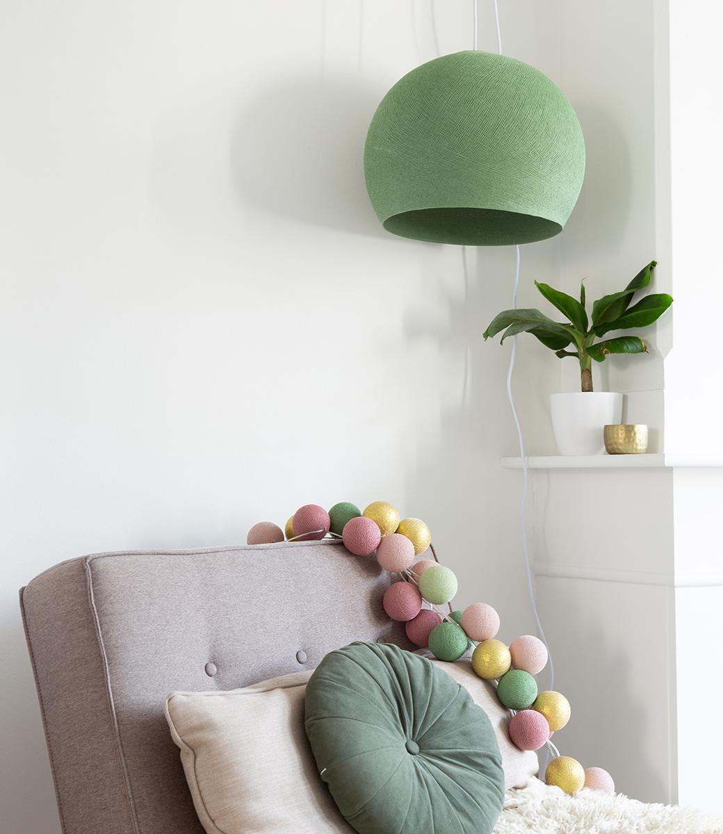 Cotton Ball Lights driekwart hanglamp groen - Sage Green