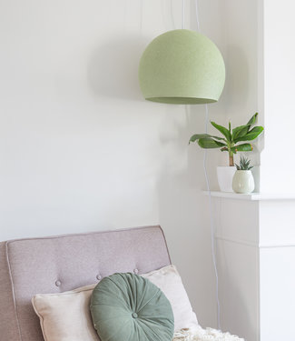 COTTON BALL LIGHTS Hanging Lamp Three Quarter - Powder Green
