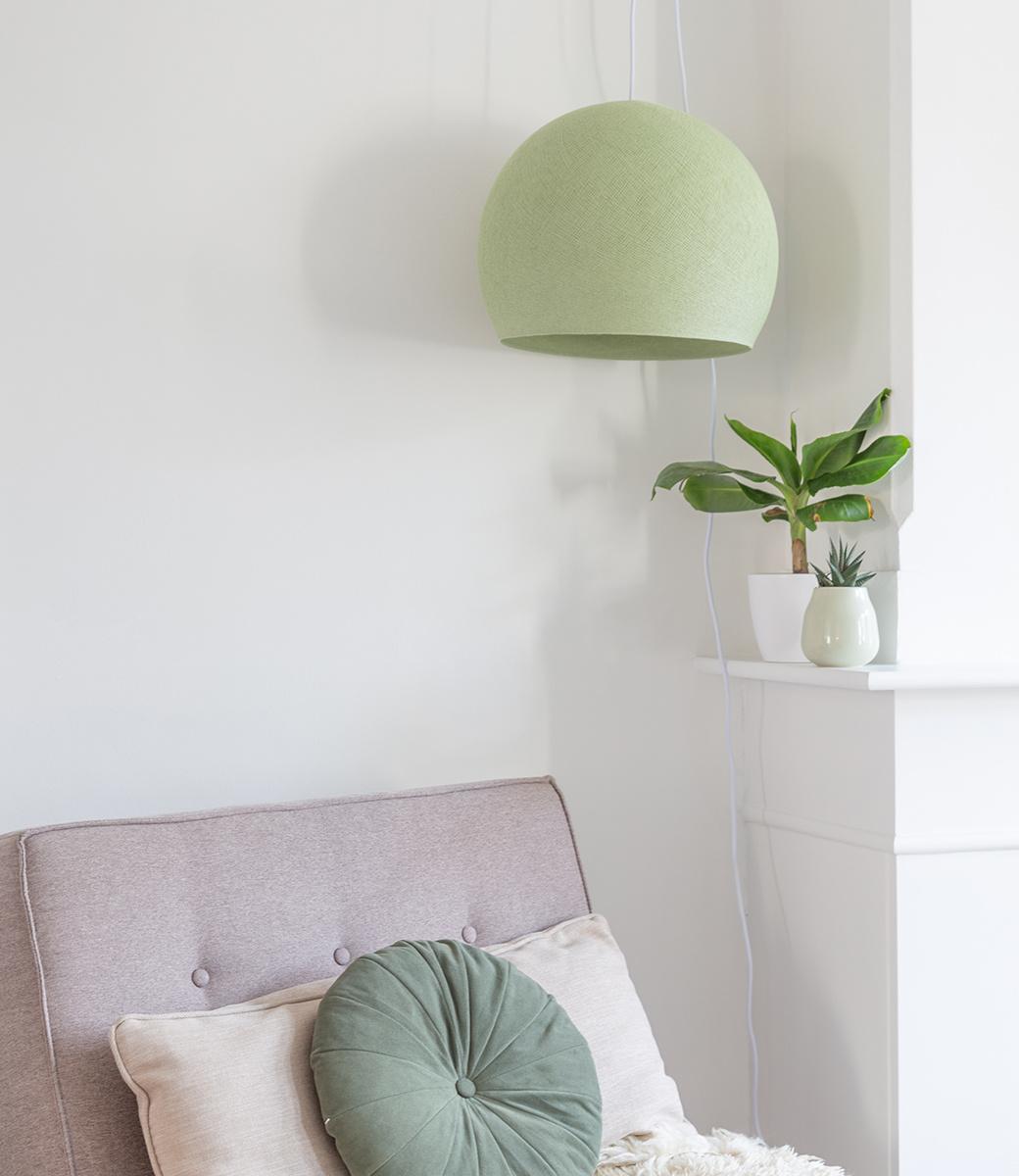 Cotton Ball Lights driekwart hanglamp groen - Powder Green