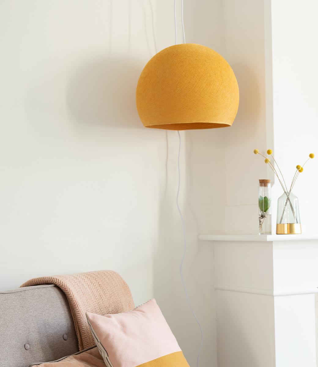 Cotton Ball Lights driekwart hanglamp geel - Mustard