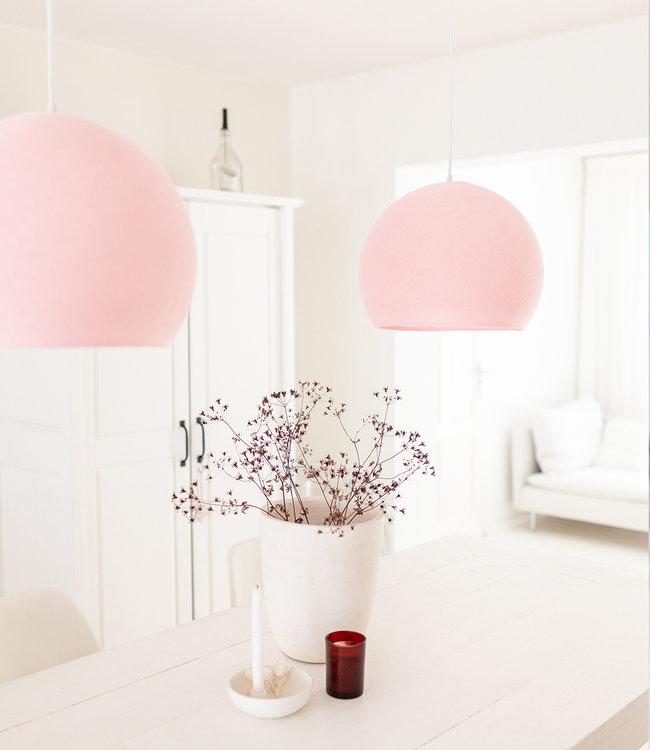 COTTON BALL LIGHTS Hanging Lamp Three Quarter - Light Pink