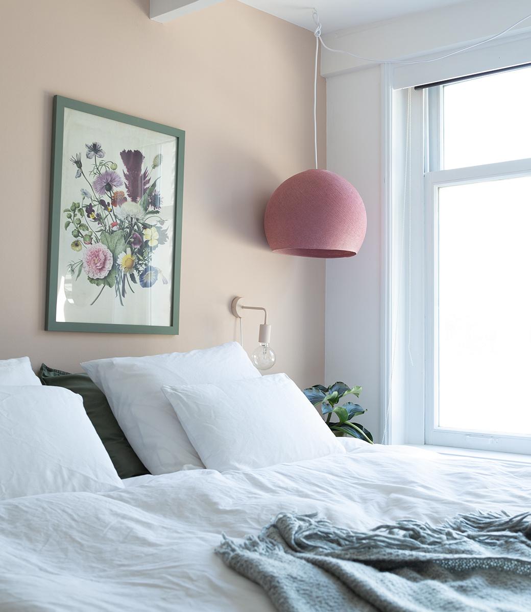 Cotton Ball Lights driekwart hanglamp roze - Dirty Rose