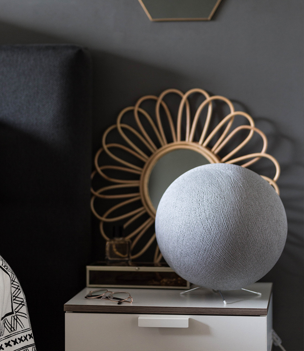 Cotton Ball Lights staande lamp grijs - Stone