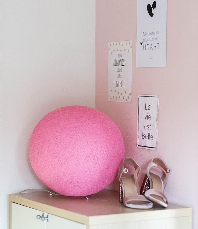 COTTON BALL LIGHTS Standing Lamp - Soft Pink