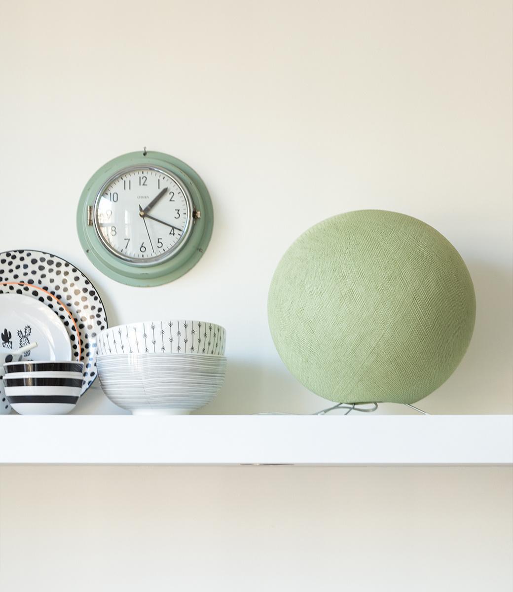 Cotton Ball Lights staande lamp groen - Powder Green