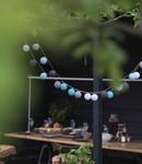 COTTON BALL LIGHTS Cotton Ball Lights buiten feestverlichting blauw - 20 ballen - Turquesa