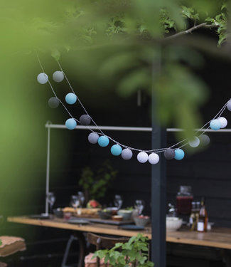 COTTON BALL LIGHTS Outdoor String Light - Turquesa