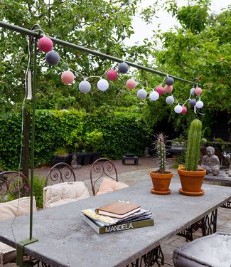 COTTON BALL LIGHTS Outdoor String Light - Roza Viejo