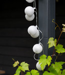 COTTON BALL LIGHTS Cotton Ball Lights buiten feestverlichting zilver - 20 ballen - Plata