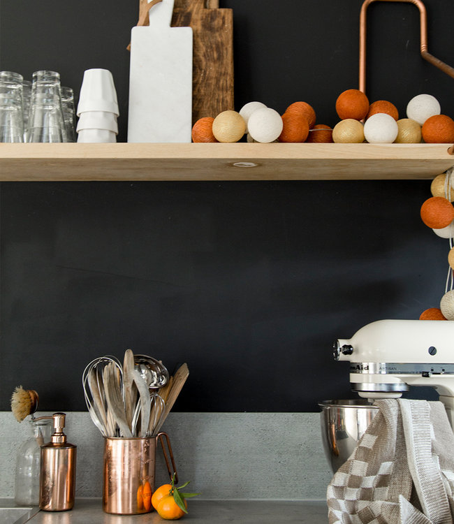 Inspiratie | Keuken | Sparkling Gold Copper Lichtslinger