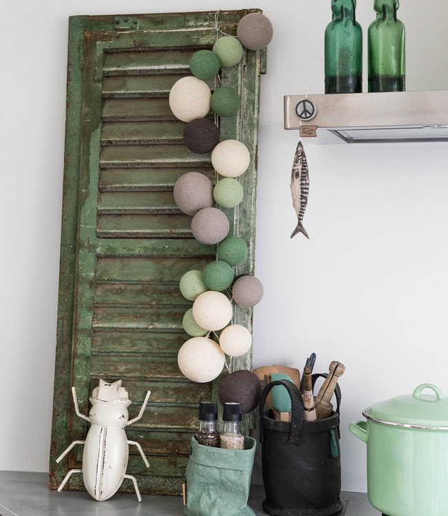 COTTON BALL LIGHTS Inspiration | Kitchen | Premium Urban Greens String Light