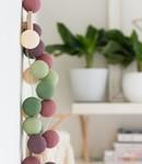 COTTON BALL LIGHTS Cotton Ball Lights Regular lichtslinger roze en groen - Forest Fruit
