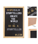 LEDR Cotton Ball Lights Letterbord zwart - Letterboard Zwart