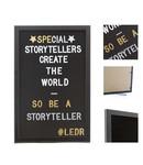 LEDR Cotton Ball Lights Letterbord volledig zwart - Letterboard Volledig Zwart