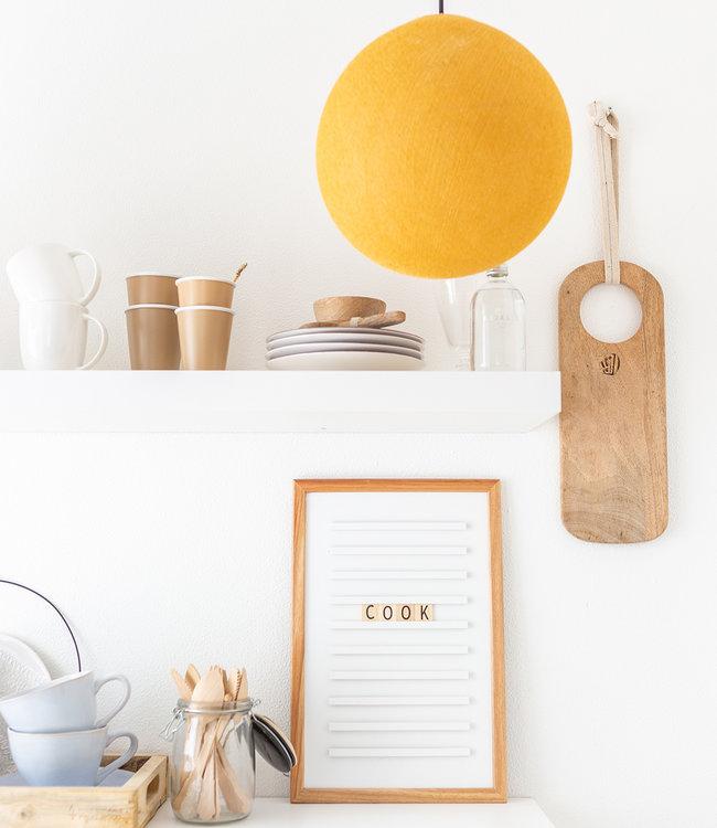 LEDR Inspiratie | Keuken | White Old School Letterboard