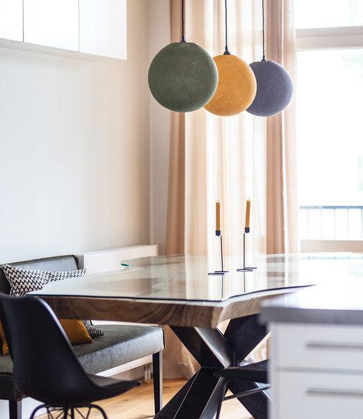 COTTON BALL LIGHTS Inspiratie | Keuken | Kaki Mustard Stone Hanglamp