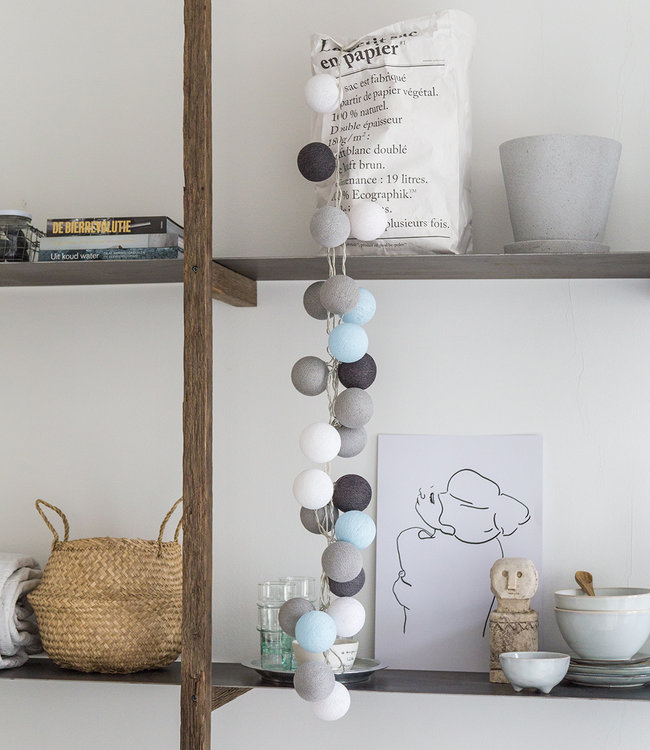 COTTON BALL LIGHTS Inspiration | Küche | Regular Aque Grey String Light