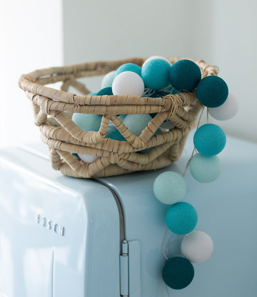 COTTON BALL LIGHTS Inspiration | Kitchen | Regular Aqua String Light