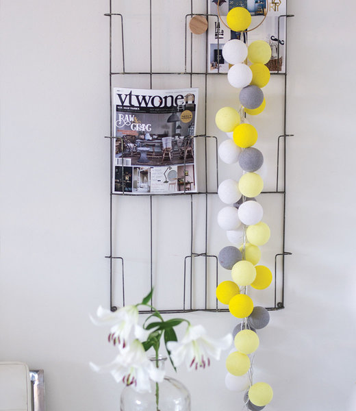 COTTON BALL LIGHTS Inspiratie | Woonkamer | Regular Yellow Stone Lichtslinger