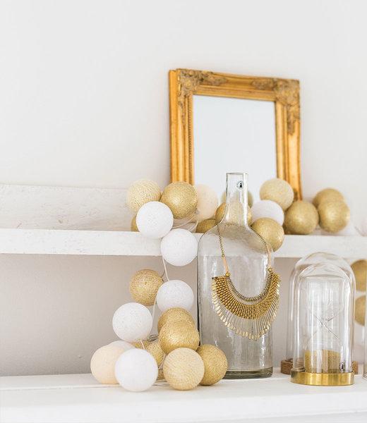 COTTON BALL LIGHTS Inspiration | Wohnzimmer | Regular Touch of Gold String Light