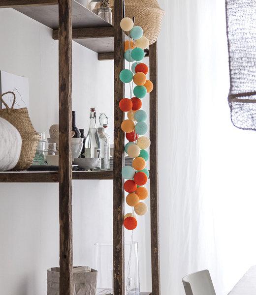 COTTON BALL LIGHTS Inspiration | Wohnzimmer | Regular Sunset String Light