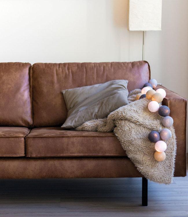 COTTON BALL LIGHTS Inspiration | Living Room | Regular Sand Grey String Light