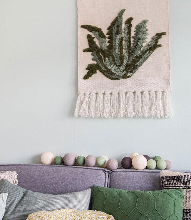 COTTON BALL LIGHTS Inspiration | Living Room | Premium Urban Greens
