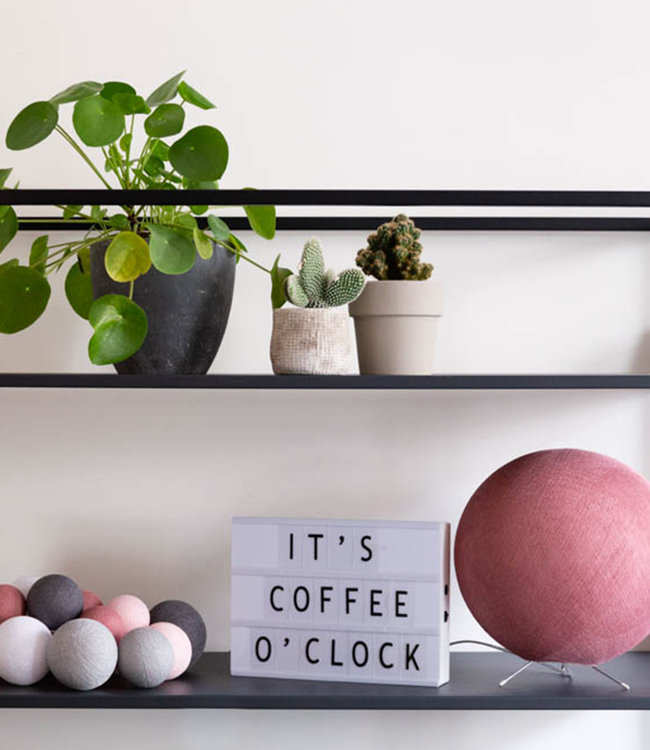 COTTON BALL LIGHTS Inspiration | Living Room | Premium Perfect Combi Dirty Rose Standing Lamp