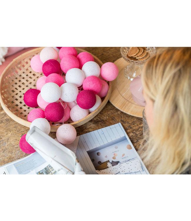COTTON BALL LIGHTS Inspiration | Living Room | Regular Pink String Light