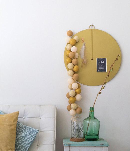 COTTON BALL LIGHTS Inspiration   Living Room   Sparkling Gold Mix String Light