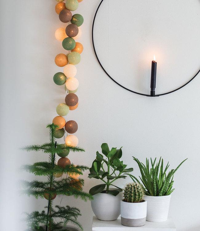 COTTON BALL LIGHTS Inspiration   Wohnzimmer   Regular Forest Green String Light