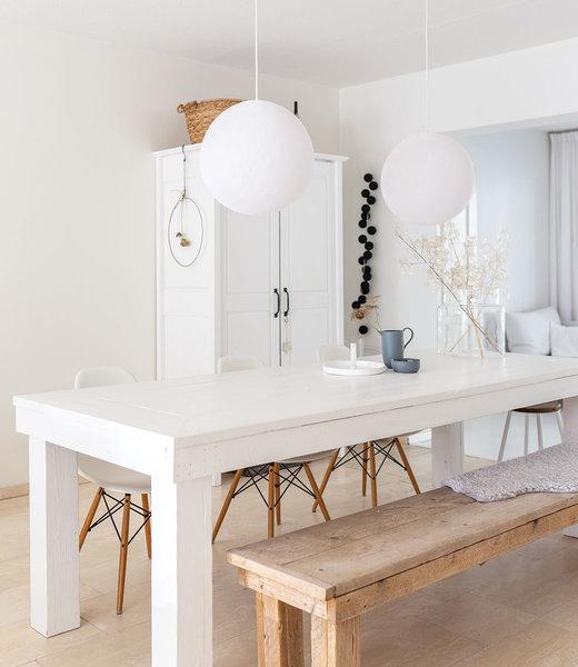 COTTON BALL LIGHTS Inspiration | Living Room | White Hanging Lamp