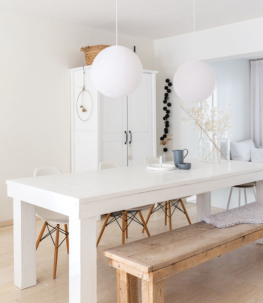 COTTON BALL LIGHTS Inspiration | Living Room | White Hanging Lamp
