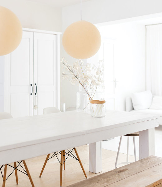 COTTON BALL LIGHTS Inspiration | Living Room | Shell Hanging Lamp