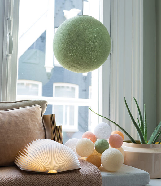 LEDR Inspiration | Wohnzimmer | Powder Green Hanging Lamp Book Lamp Premium Light Blossom String Light