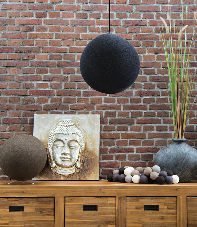 COTTON BALL LIGHTS Inspiration | Living Room | Black Caffe Latte Hanging Lamp