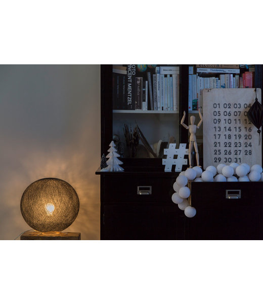 COTTON BALL LIGHTS Inspiration | Living Room | Black Standing Lamp 2