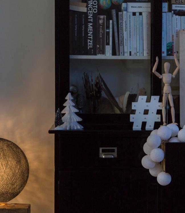 COTTON BALL LIGHTS Inspiratie   Woonkamer   Black Staande Lamp 2