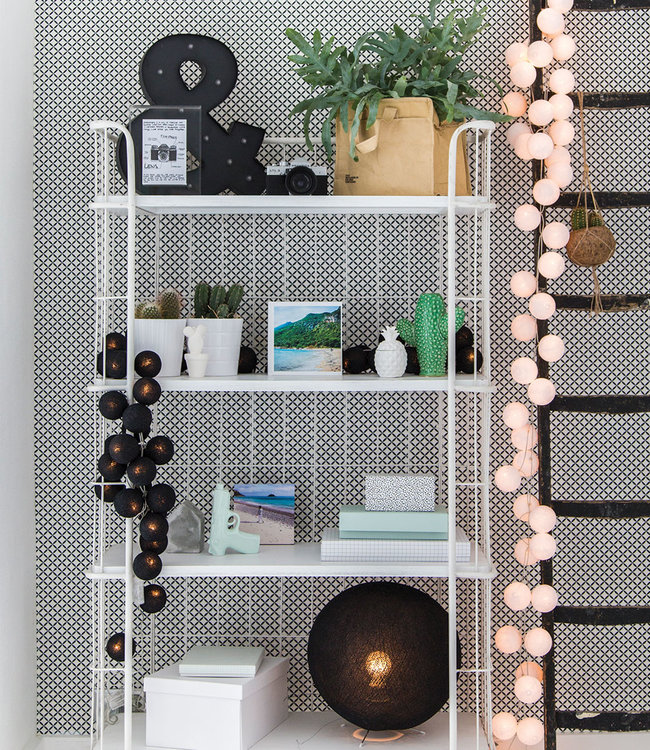 COTTON BALL LIGHTS Inspiration | Living room | Black Standing Lamp