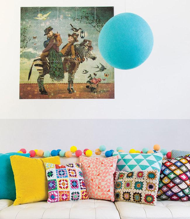 COTTON BALL LIGHTS Inspiration   Living room   Aqua Hanging lamp