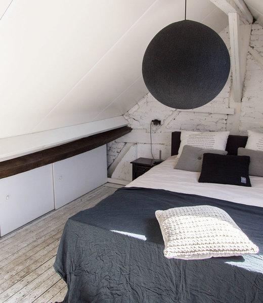 COTTON BALL LIGHTS Inspiration | Bedroom | Black Hanging Lamp