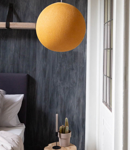 COTTON BALL LIGHTS Inspiration | Bedroom | Mustard Hanging Lamp