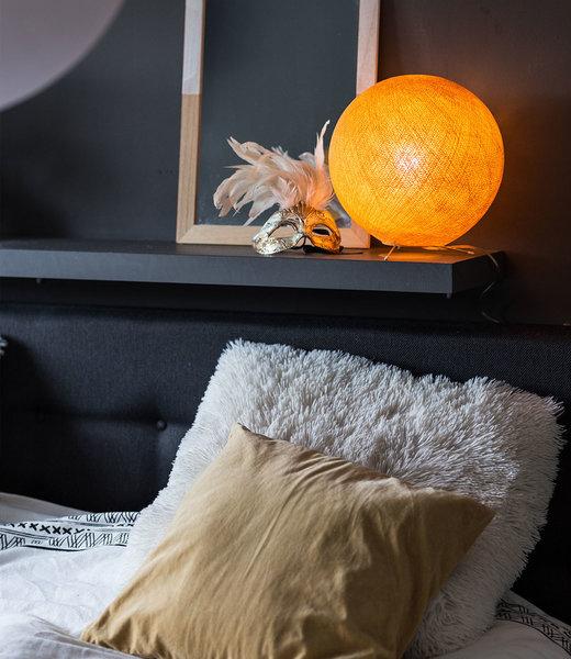 COTTON BALL LIGHTS Inspiration | Bedroom | Mustard Standing Lamp