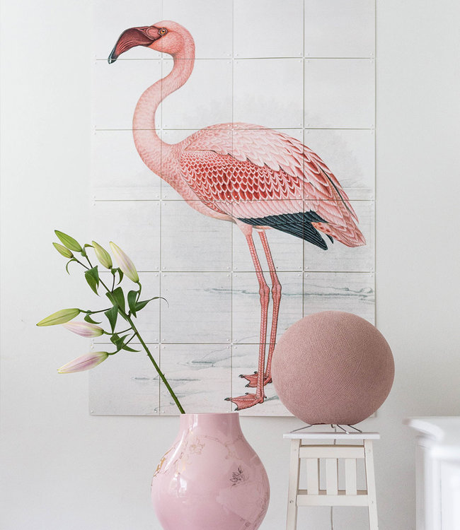 COTTON BALL LIGHTS Inspiration | Bedroom | Pale Pink Standing Lamp