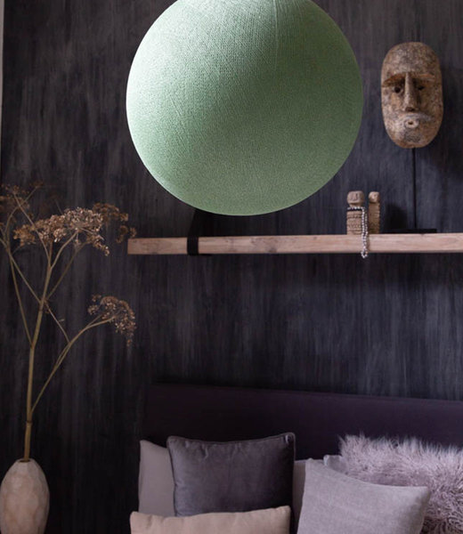 COTTON BALL LIGHTS Inspiration | Wohnzimmer | Powder Green Hanging Lamp