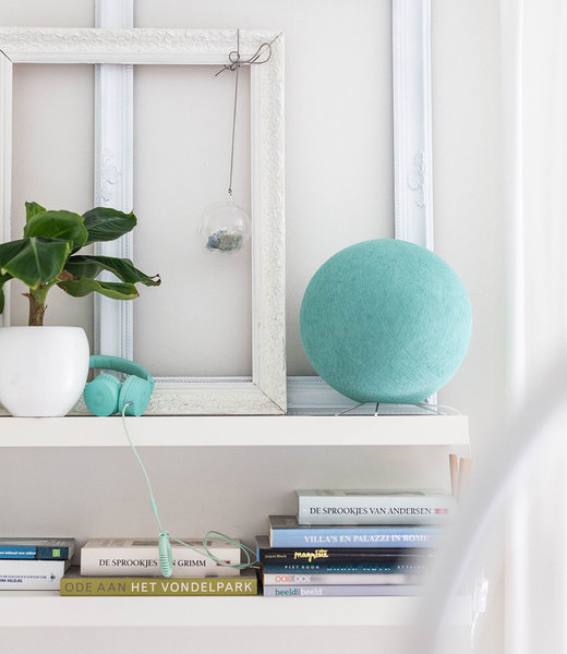 COTTON BALL LIGHTS Inspiration | Bedroom |  Sea Green Standing Lamp