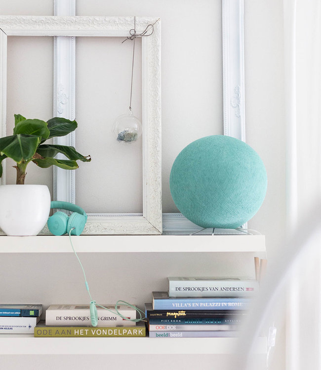 COTTON BALL LIGHTS Inspiration   Bedroom    Sea Green Standing Lamp