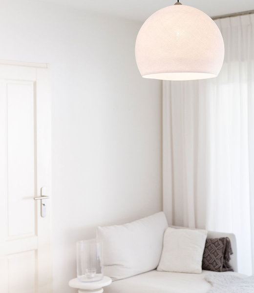 COTTON BALL LIGHTS Inspiration | Bedroom | White Three Quarter Lamp