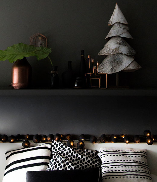 COTTON BALL LIGHTS Inspiration | Bedroom | Regular Black String Light 2