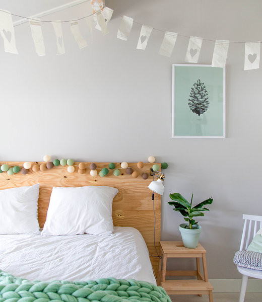 COTTON BALL LIGHTS Inspiration | Bedroom | Regular Forest Green String Light